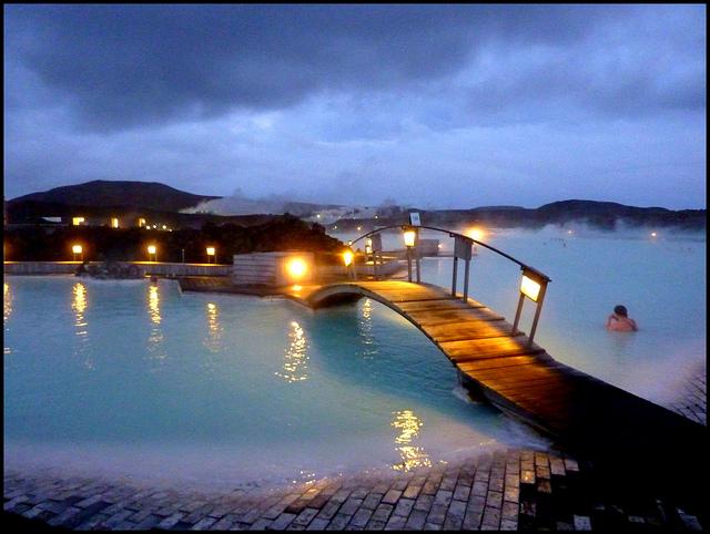 Blue Lagon de nuit en Islande